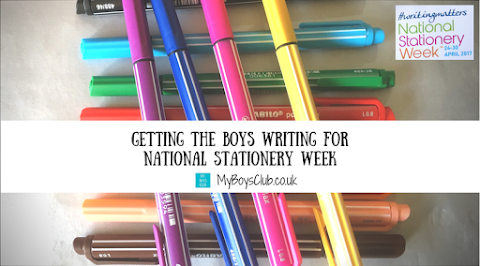 Getting the Boys Writing for National Stationery week (REVIEW)