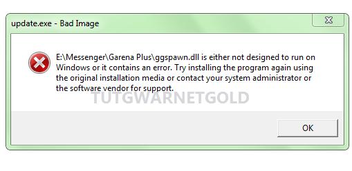 Cara Mengatasi Messenger Garena Bad Image ggspawn.dll Cyberindo Updater