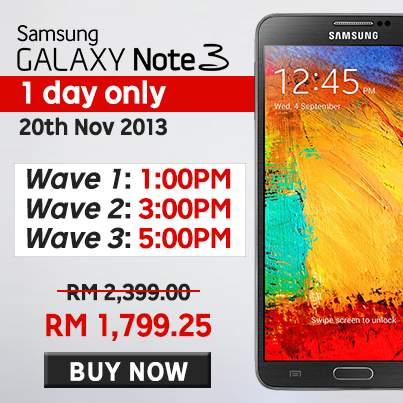 Samsung Galaxy Note 3 at RM1,799