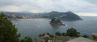 San Sebastián. Vistas del Monte Igueldo desde el Monte Urgull.