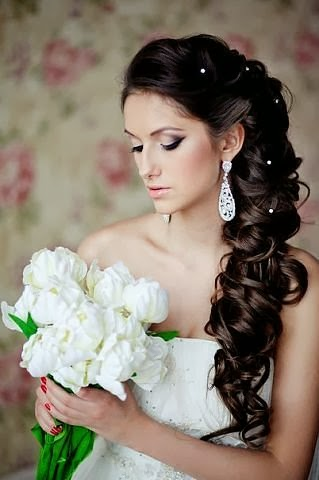 gorgeous long wedding hairstyle wavy long and side 2014 de wedding guide