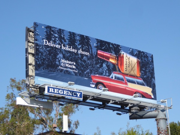 Makers Mark Deliver holiday cheer billboard