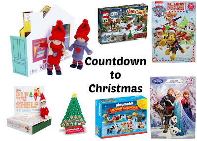 collage of countdown to christmas items