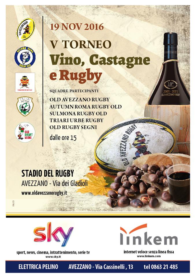 Locandina - V Torneo Vino, castagne e rugby