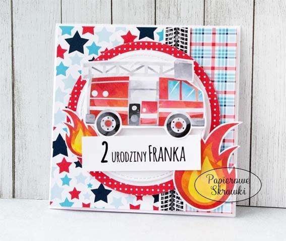 Papierowe Skrawki Zaproszenia Urodzinowe Dla Małego Strażaka