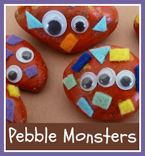 How to make pebble monsters craft with children