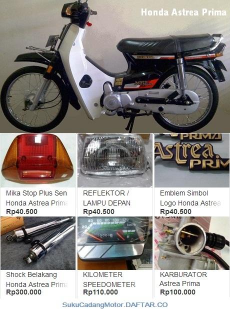 Daftar Harga Onderdil Honda Astrea Prima