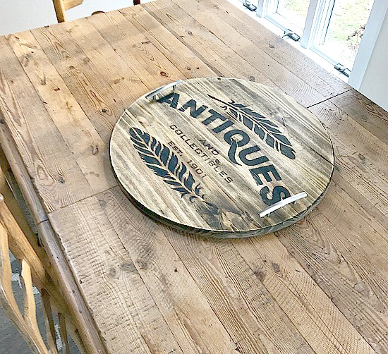 Repurposed Stenciled Tray and storage  . Homeroad.net