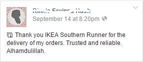 Runner perabot IKEA, Perkhidmatan runner, beli barang melalui runner