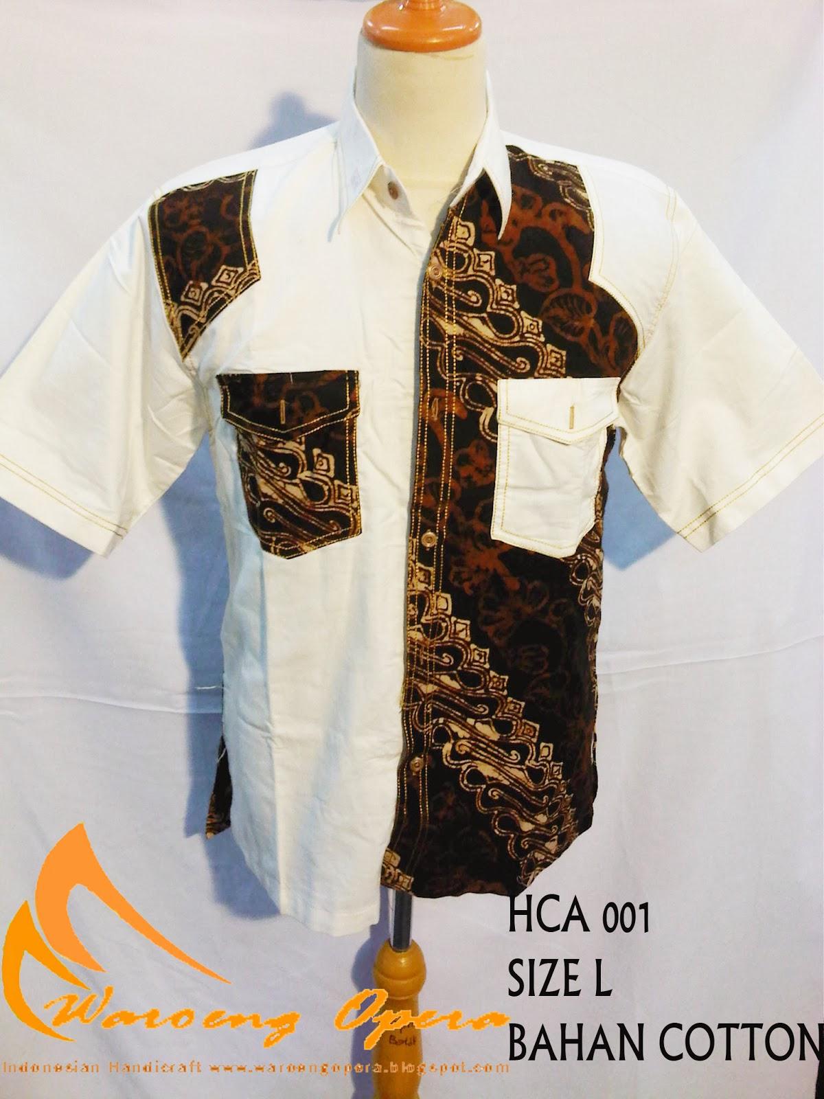 Batik Grosir Waroeng Opera Indonesian Craft  Batik Cowok Cap Lengan ... 28e5dd67bc