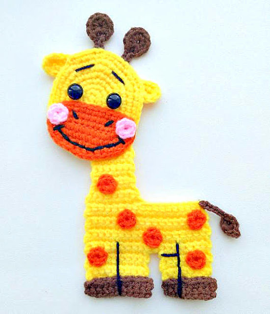 giraffe applique crochet pattern