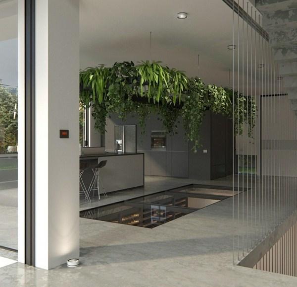 Wine Storage Cellar Idea Transparent Flooring Plan Ceiling Deco