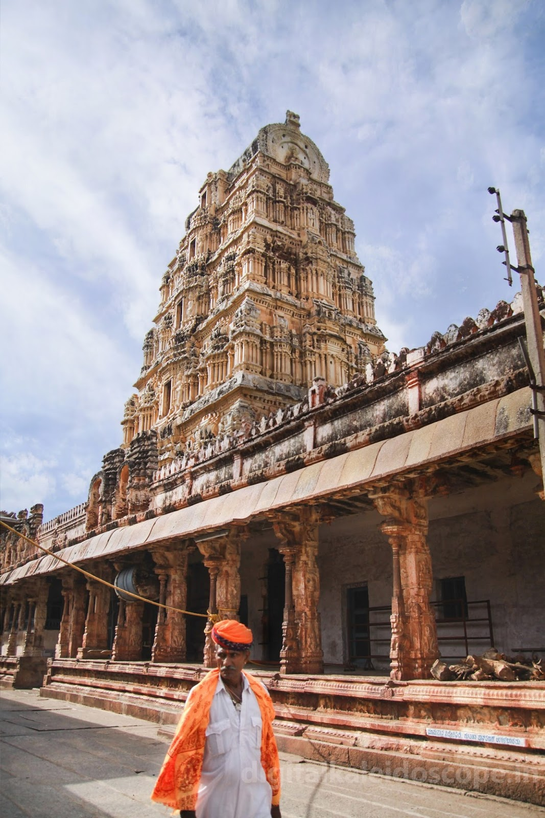 Inside Virupaksha Temple in Hampi