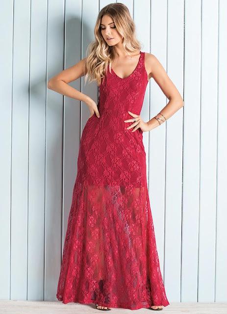Moda feminino vestidos longos permanecem sendo tendência nessa estação