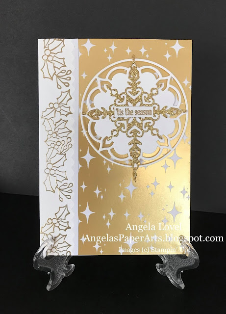 Stampin' Up! Colour Your Seasons christmas card by Angela Lovel, Angela's PaperArts