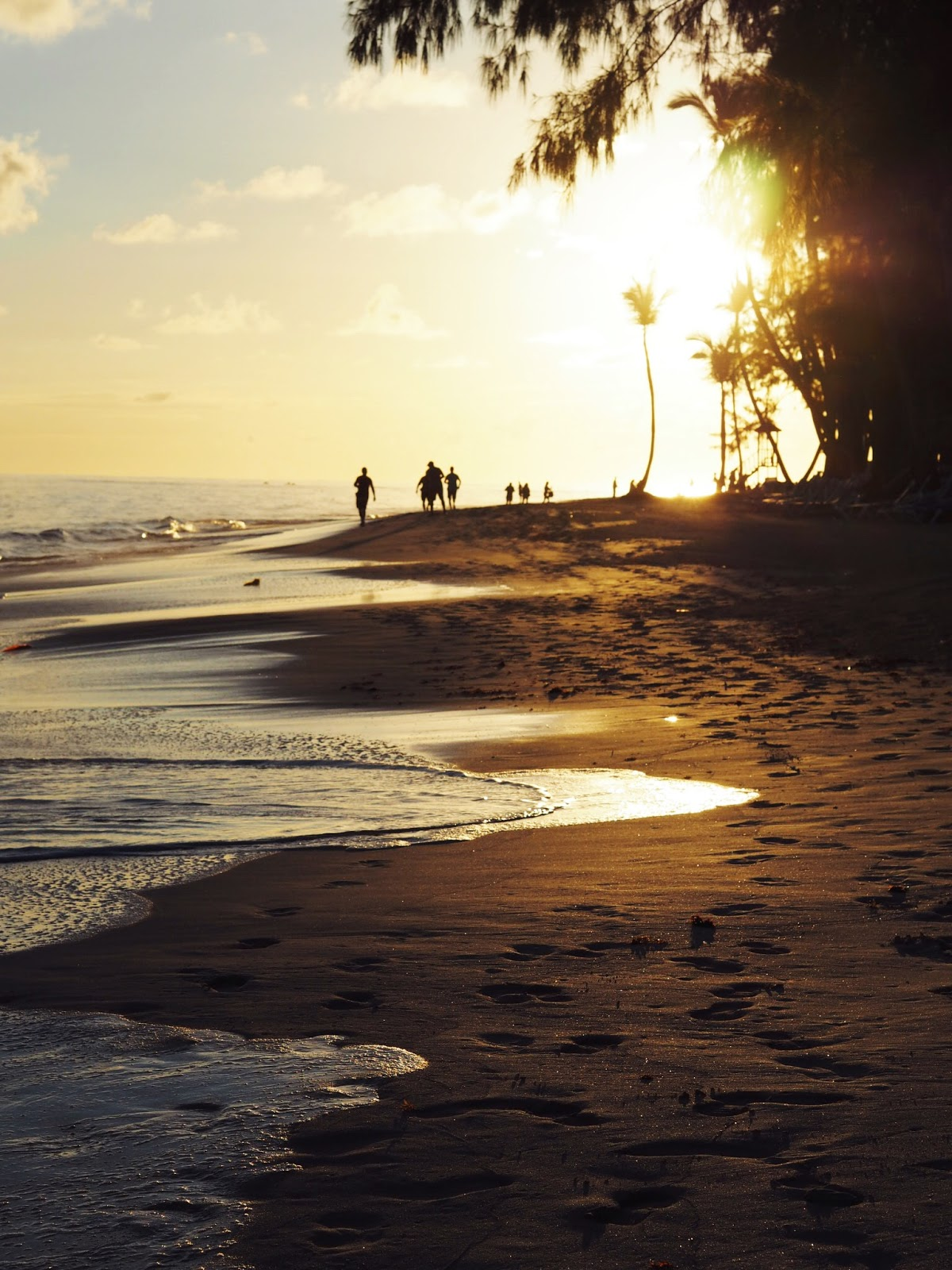 Bavaro Beach Punta Cana at SunRise reflection on water