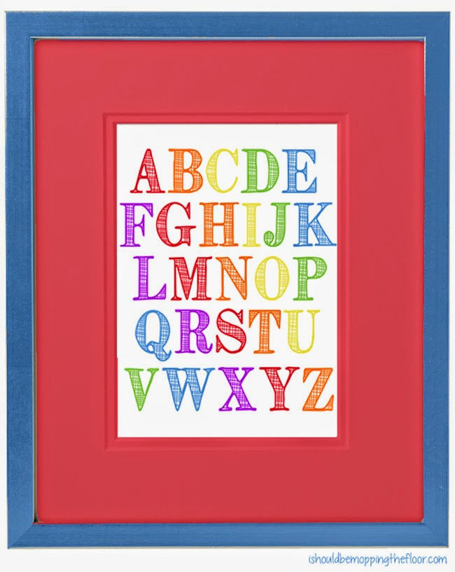 This free alphabet printable is perfect for nurseries, classrooms, homeschool rooms or just about anywhere!