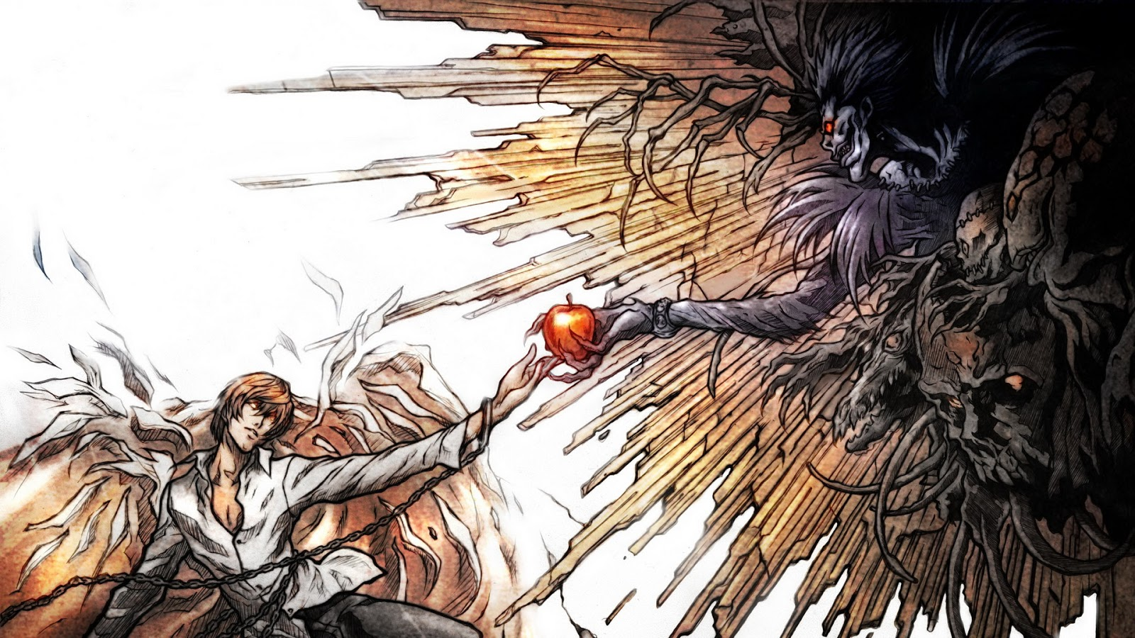 light and ryuk wallpaper -#main