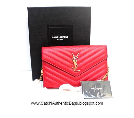 SOLD  Reprice  Brand New YSL Saint Laurent Monogram WOC Red. Product  Description  Beautiful elegant clutch ... 60ec112ecf8fe