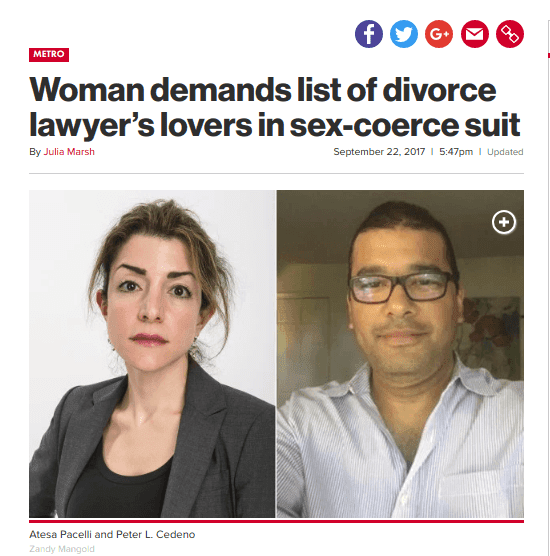 Divorce lawyers having sex with female clients
