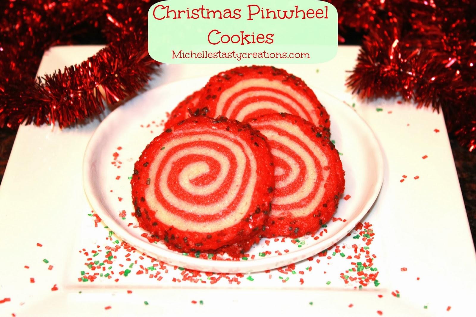 Christmas Pinwheel Cookies.Michelle S Tasty Creations Christmas Pinwheel Cookies