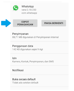 Whatsapp tidak bisa Video Call