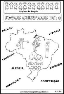 Desenhos sobre jogos olímpicos 2016