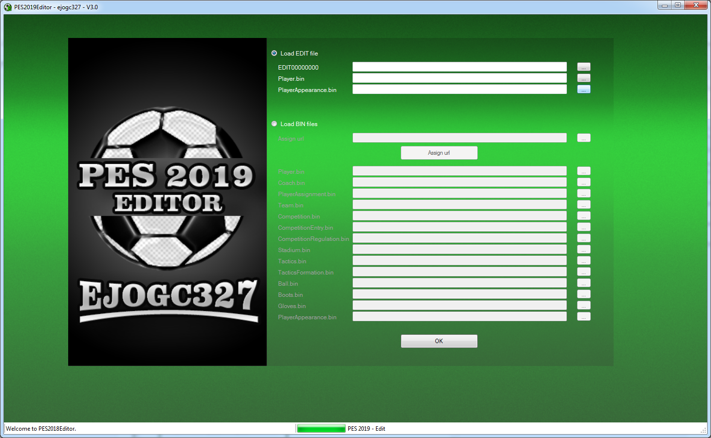ejogc327: PES 2019 Editor V3 0