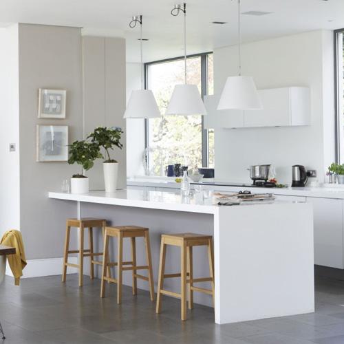 Our Best Breakfast Bar Ideas For A Stylish Good Morning: Bromeliad: DIY Kitchen Island Inspiration