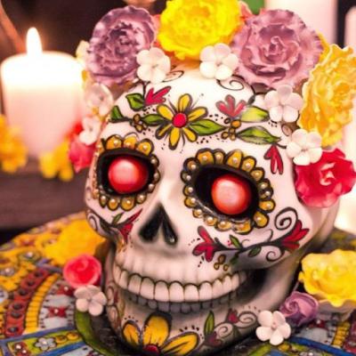Fête d'Halloween thème calavera mexicaine blog mariage et jolies fêtes www.unjourmonprinceviendra26.com