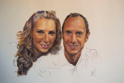 Retrato de una pareja a pastel