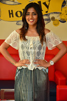Eesha in a cute deep neck top and Skirt at at Big FM 092.JPG