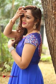 Actress Ashwini Stills in Blue Chudidar at Ameerpet Lo Release Press Meet  0129.JPG