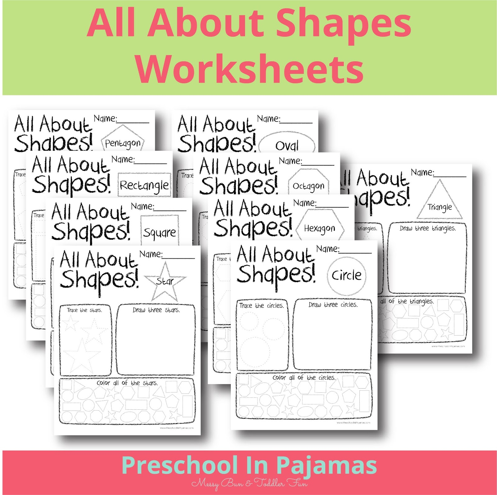 Free All About Shapes Printable Worksheets