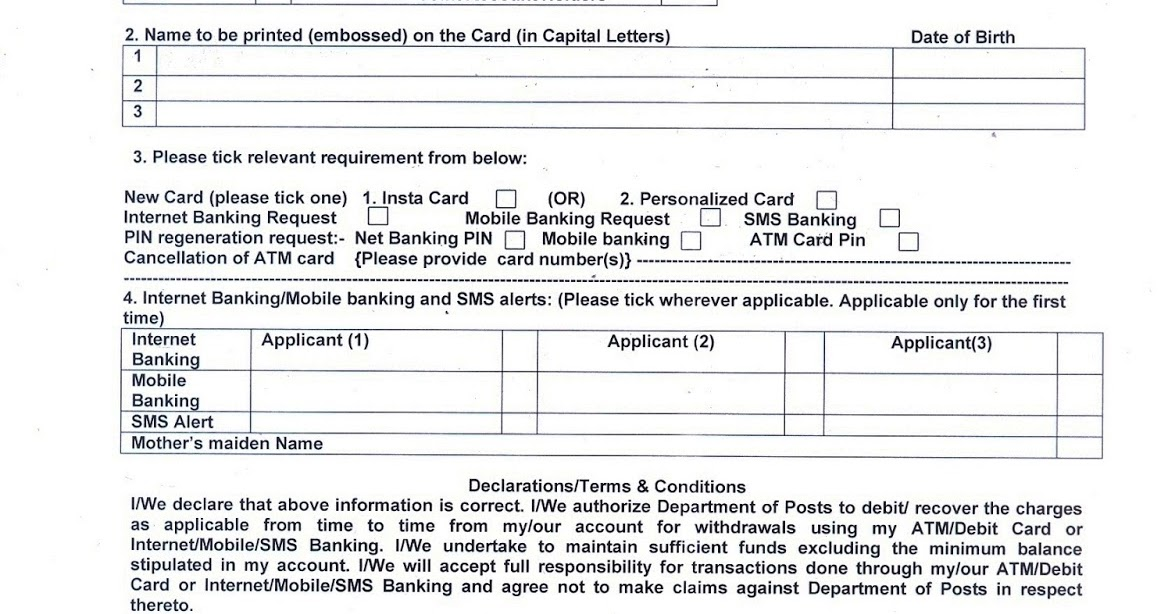 Postal info india post atm cardinternetmobilesms banking request postal info india post atm cardinternetmobilesms banking request form thecheapjerseys Images