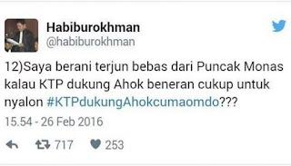 Netizen Tagih Janji Habiburokman Terjun dari Monas