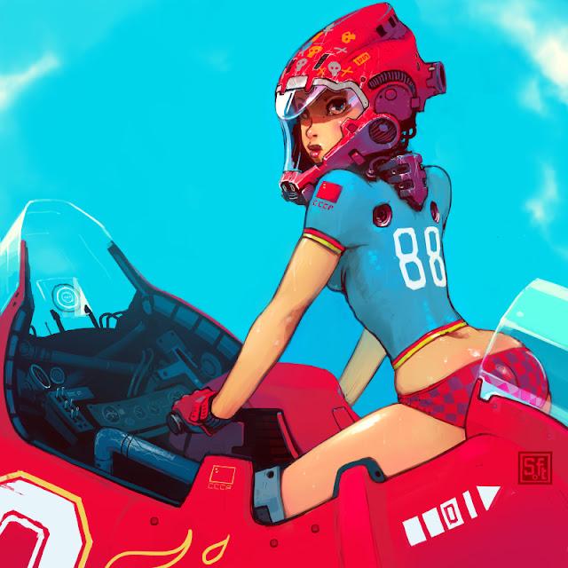 Soviet Hover Girl