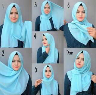25+ Tutorial Hijab Segi empat Terbaru 2018   Simpel Modern