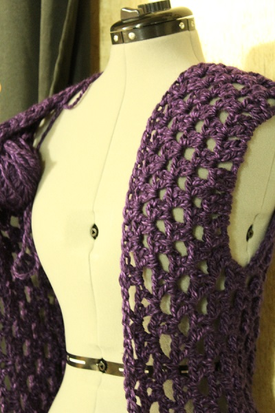 crochet, WIP, work in progress, rectangle jacket