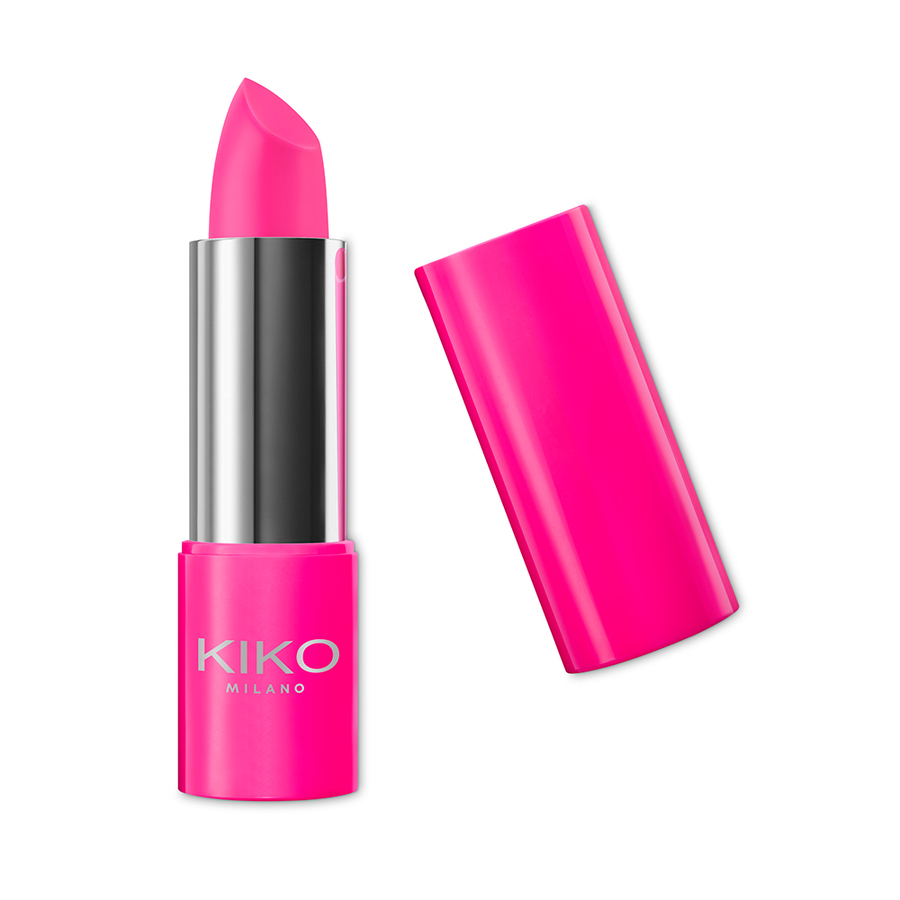 Capsule collection Mayo Active Fluo KIKO MILANO lipstick Powerful Fuchsia