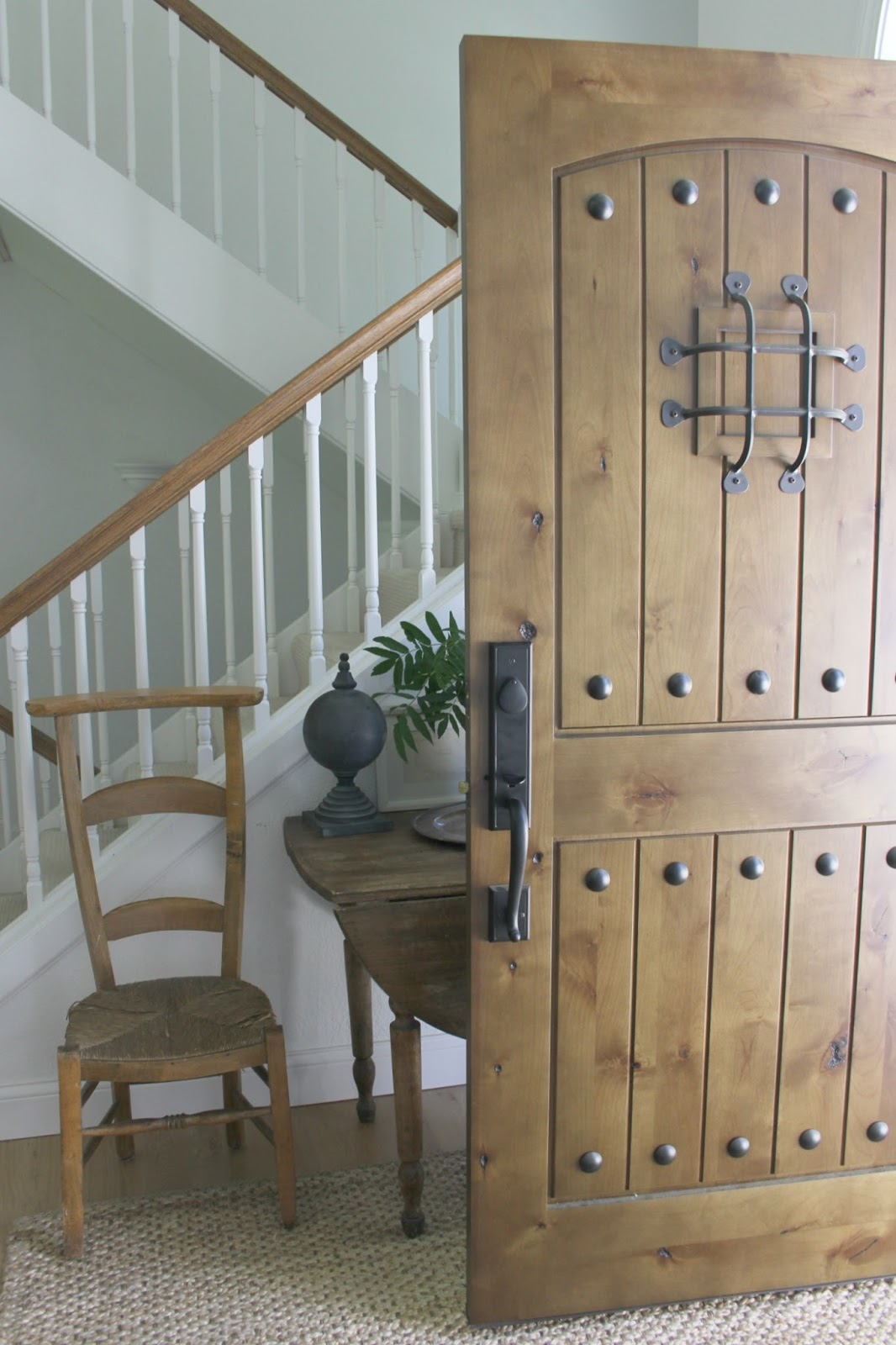 Knotty alder rustic front door - Hello Lovely Studio