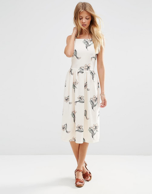high neck floral dress,