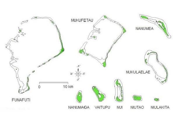 Mapas Geográficos de Tuvalu