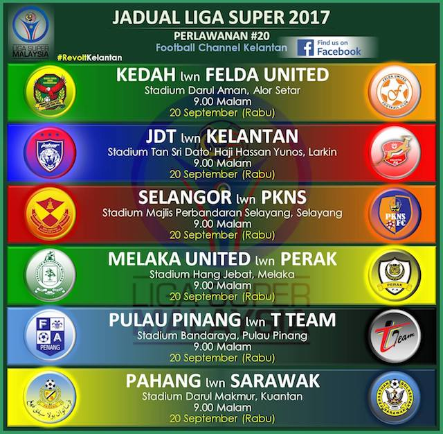 Download Jadual Tarikh Dan Tempat Liga Super 2017