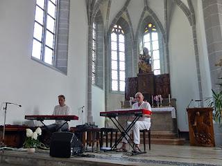 Arnold Kasar, Hans-Joachim Roedelius / photo S. Mazars