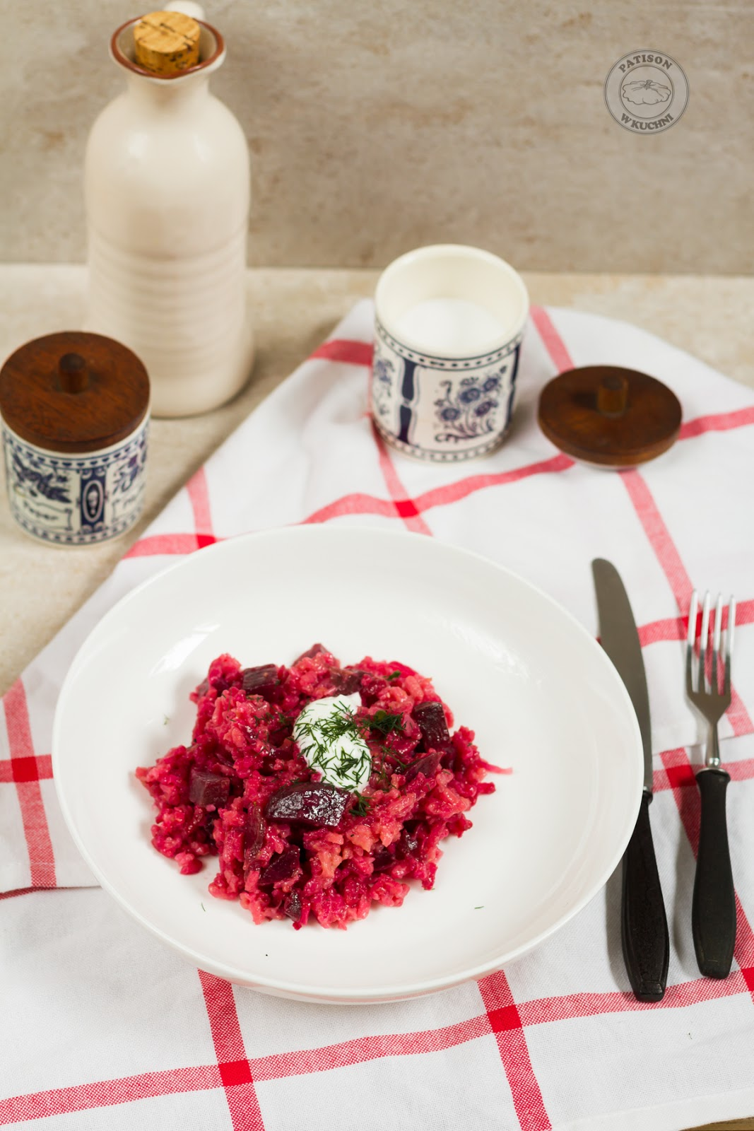 Beetroot risotto.