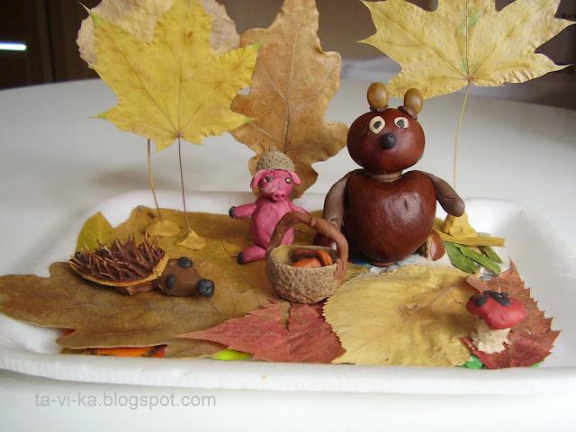 поделки из природных материалов autumn nature craft