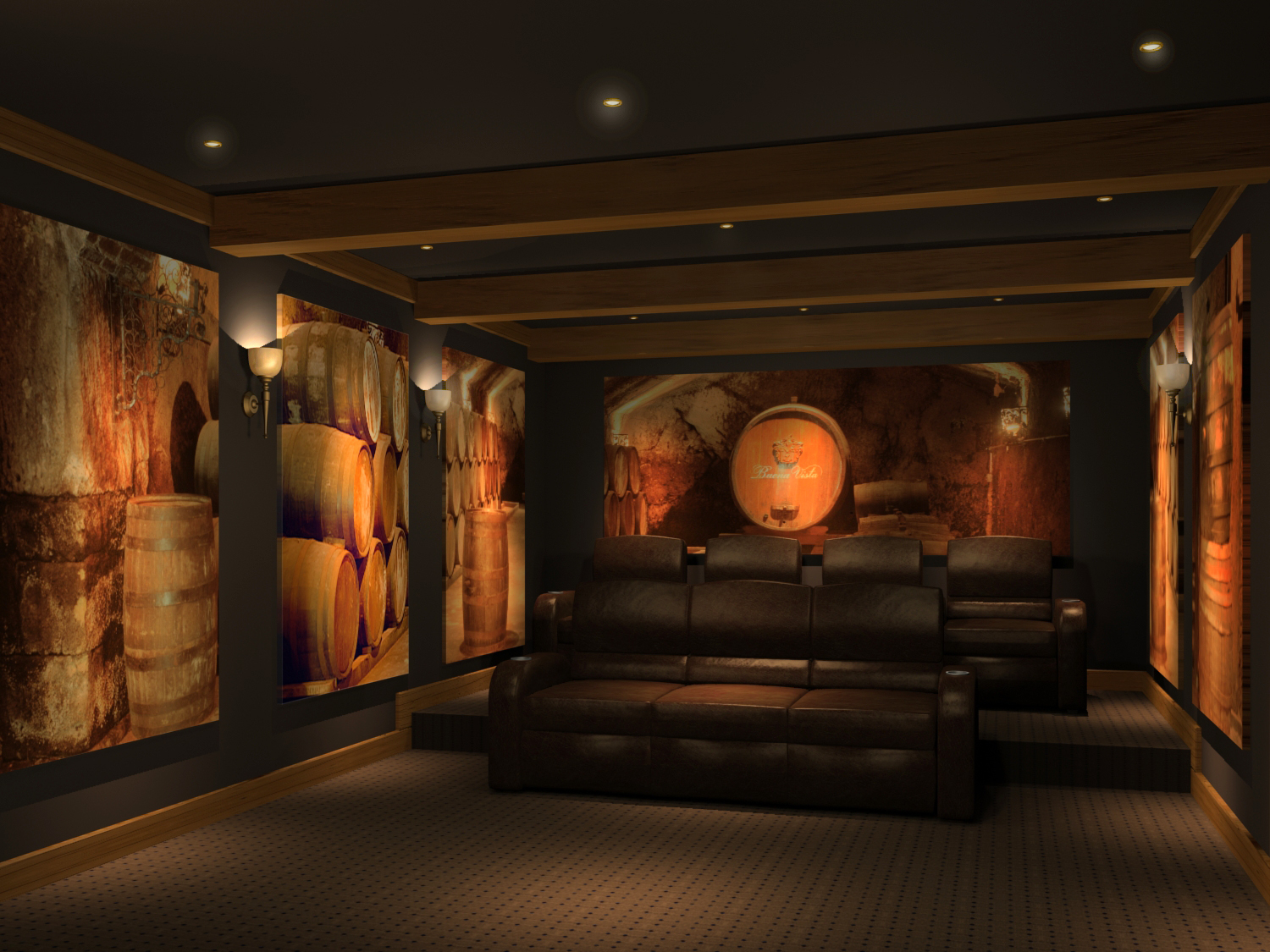 Home Theater Design And Beyond By 3 D Squared Inc Home Theater Design Wine Cellar Theme