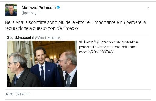 Maurizio Pistocchi, dal suo profilo Twitter