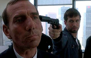 Kobayashi being threatened by McManus, The Usual Suspects, Directed by Bryan Singer